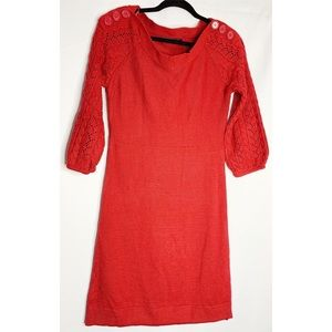NEW The limited red knit sweater dress S
